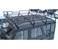 Багажник на УАЗ Хантер Браконьер усиленный (8 опор)