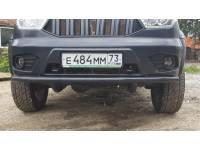 """Защита переднего бампера """"Одинарная"""" на УАЗ Патриот, Пикап, Карго"""
