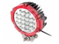 Фара светодиодная CH030R 63W 21 диод диодов по 3W (габаритные размеры 83*82*115*875мм цветовая температура 6000K дальний свет) Красная