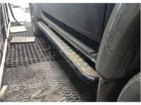 Подножки на УАЗ Патриот силовые с креплением к раме, с возм. подъёма hi-jack