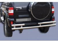 Защита заднего бампера на УАЗ Патриот